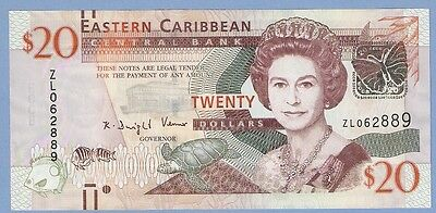 2012 East Caribbean  States P-53  ND 20 Dollars-Crisp Uncirculated