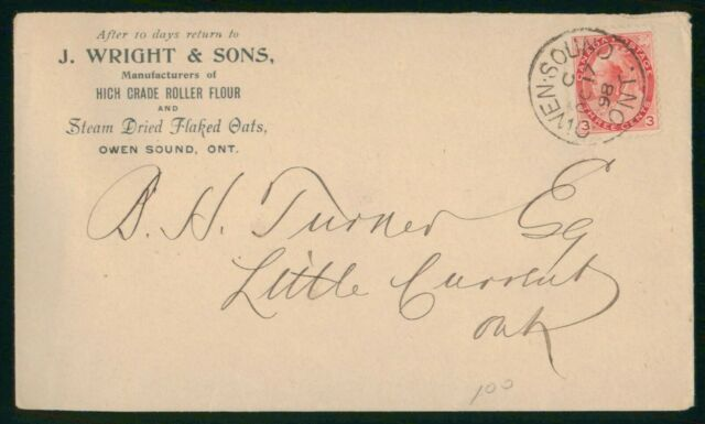 Mayfairstamps Canada 1898 J Wright and Sons BH Turner Esq Queen Victoria Cover w