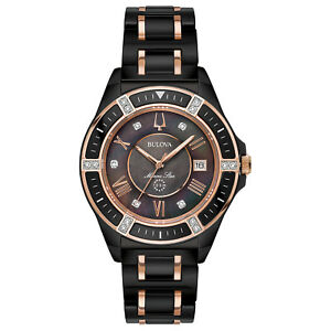 Bulova-Marine-Star-Women-039-s-Quartz-Diamond-Accents-Two-Tone-37mm-Watch-98R242