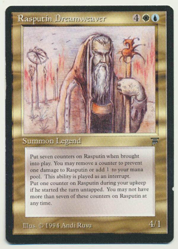 El legendario personaje mágico de mtg raspkin, el telar mágico, la lámpara LP ¡El legendario personaje mágico de mtg raspkin, el telar mágico, la lámpara LP Una.