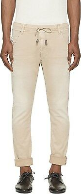 Men/'s DIESEL Krooley NE 670M Beige Joggjean Jogg Sweat Leg Jeans Pants New