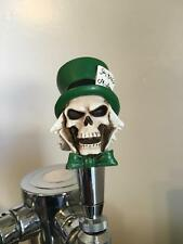 New figural MAD HATTER SKULL home bar kegerator beer tap handle dead walking