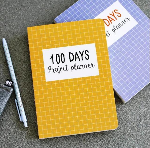 """""""Grid World"""" 1pc 100 Days Project Planner Study Work Agenda To Do List Scheduler"""