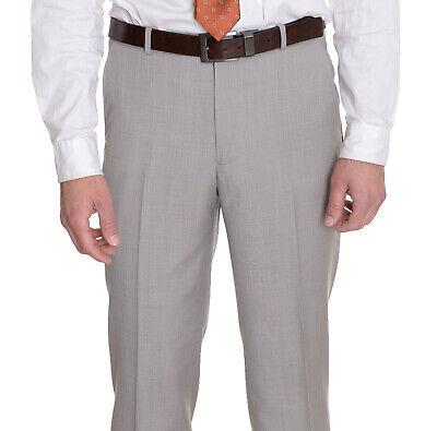 $135 Alfani Regular Fit Solid Black Flat Front Wool Cashmere Hemmed Dress Pants