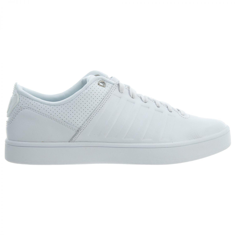 K-Swiss Court Westan Mens 05404-101 All Weiß Leather Athletic schuhe Größe 9
