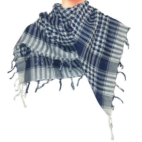 PLO Tuch  blau-weiß 100x100cm Baumwolle Arafat Pali Palästinenser Schal Halstuch