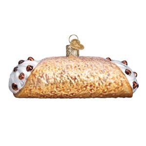 034-Cannoli-034-32359-X-Old-World-Christmas-Glass-Ornament-w-OWC-Box