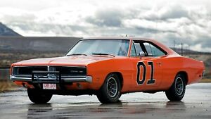 1969-Dodge-Charger-General-Lee-Auto-Car-Art-Silk-Wall-Poster-Print-24x36-034