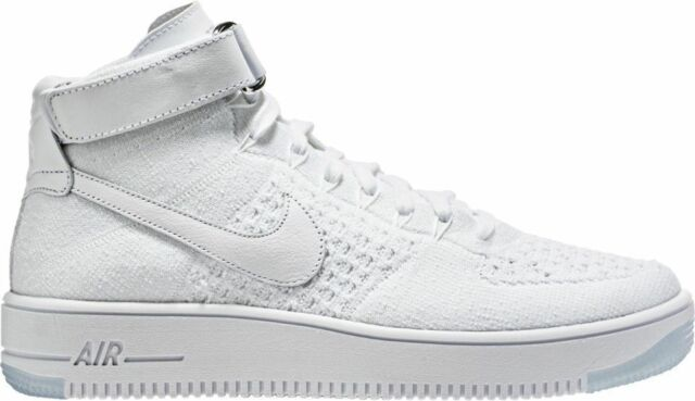 free shipping 11f0d 94c07 Nike Air Force 1 Ultra Flyknit Mid Sz 11 Triple White 817420 100
