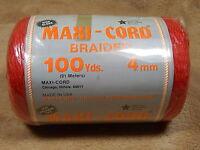 Braided Maxi Cord Macrame Rug Yarn Red 4 Mm 100 Yds