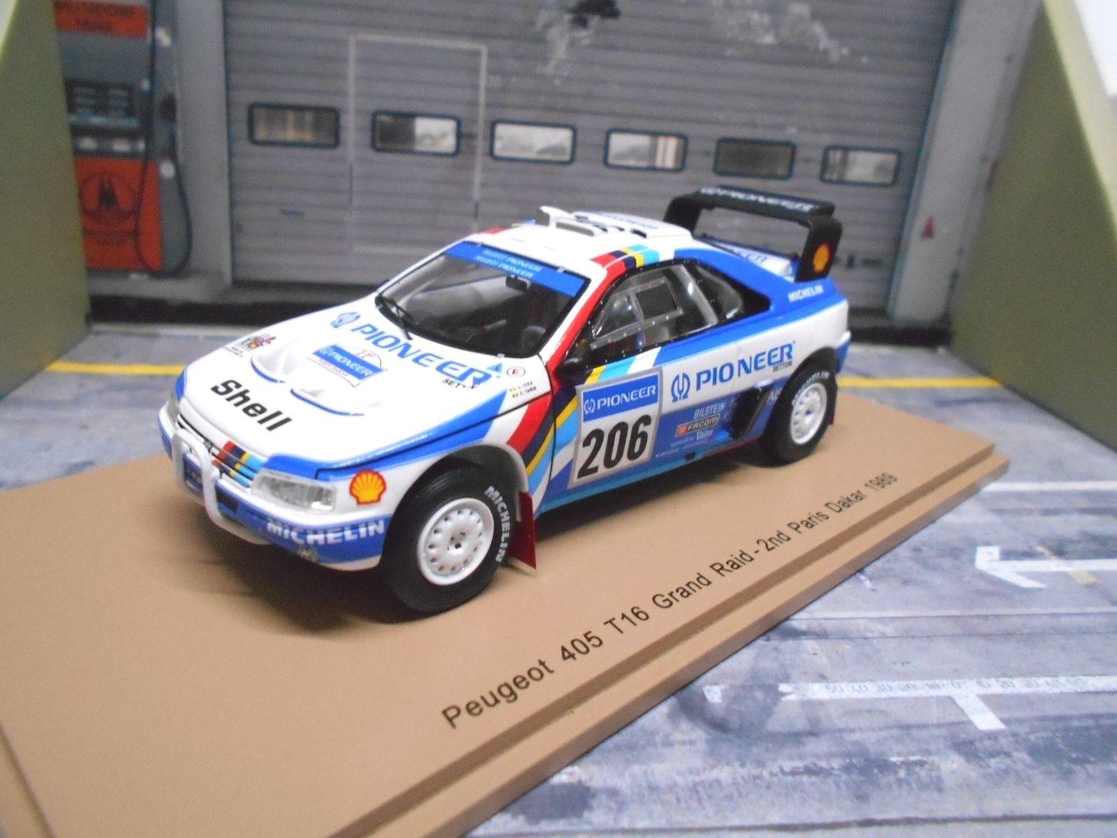 Peugeot Peugeot Peugeot 405 t16 RALLYE RAID PARIS DAKAR 1989 #206 Ickx Pioneer Spark Resin 1:43 | Forme élégante  508600