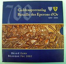 Belgien Kursmünzsatz 2002 - Goldene Sporen-Schlacht - stgl.