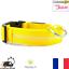 Collier-Nylon-Lumineux-a-Led-Jaune-pour-Chien-ou-Chat-XS-S-M-L-XL-Neuf-FR miniature 1
