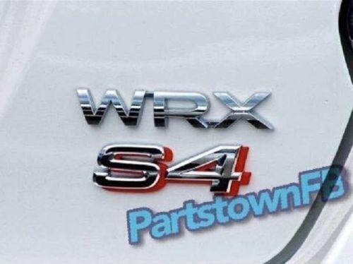 Subaru Impreza WRX S4 Rear Trunk Badge Emblem JDM Sticker