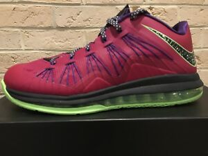 super popular 0437e 7a2f7 Image is loading Nike-Air-Max-Lebron-X-10-Low-Raspberry-
