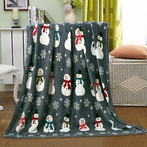 Christmas-Santa-amp-Halloween-Fleece-Throw-Blankets-Assorted-Styles