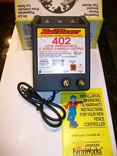 New Listing50 Mile Bulldozer 402 Low Impedance 2 Joule Electric Fence Charger