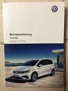 vw touran 2 2017 operating instructions car user manual log book ebay rh ebay co uk vw touran 2015 user manual vw touran owners manual