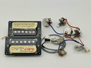 Zebra-Epiphone-Alnico-Classic-Humbucker-Pickups-with-Wiring-Fit-Les-Paul-SG-LP