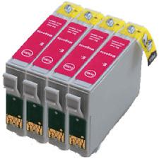 4 Magenta Cartridges D78 D92 D120 DX4000 5000 6000 DX7400 T0713 Compatible Ink