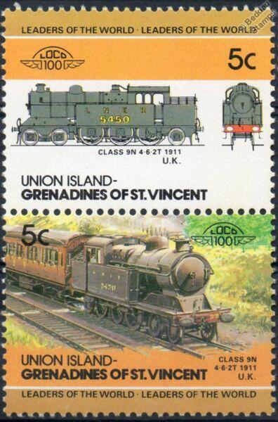 1911 Gcr / Lner Classe 9n 4-6-2t (great Central Railway) Train Timbres / Loco 100 Plus De Rabais Sur Les Surprises