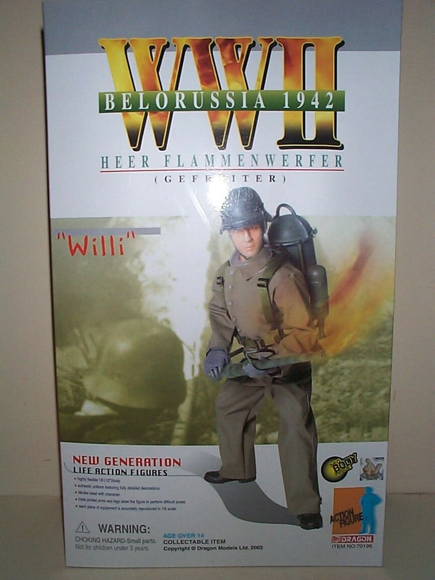 DRAGON WWII GERMAN ARMY FLAMMENWERFER GEFREITER WILLI FLAME THROWER SOLDIER 1942