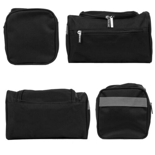 Black Extra Large Travel Toiletry Bag Water Resistant Shower Wash Bags for Men