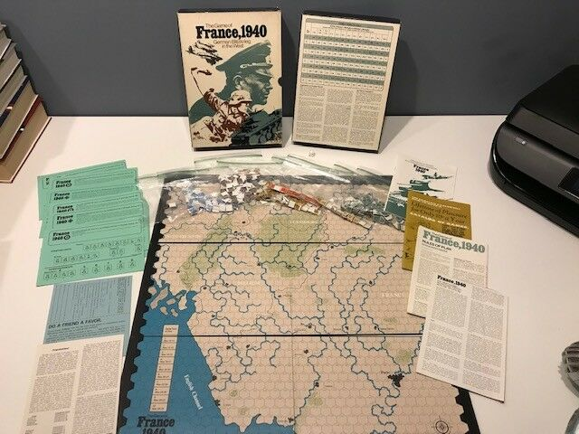 Avalon Hill The Game of France 1940 German Blitzkrieg in the West