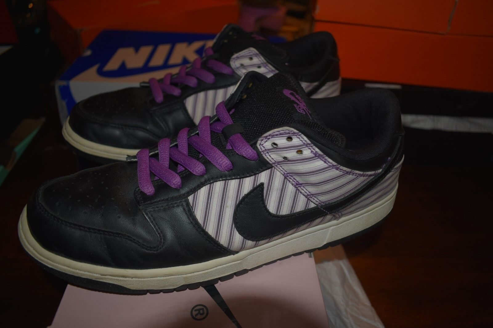 05 NIKE DUNK LOW PRO SB  Avenger Purple White/Black-Hyancinth 304292-101 sz10