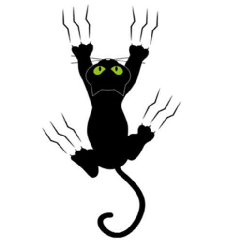 Waterproof Cat Pattern Car Sticker Funny Animal Vinyl Decal  Roof Wall Wi spJMDE