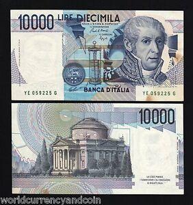 Image Is Loading Italy 10000 10 000 Lira P112 1984 Green