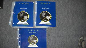 1999 FORD WINDSTAR VAN Service Shop Repair Manual Set W ...