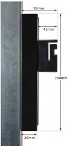 Sliding Block Holder 280mm x 80mm - Black