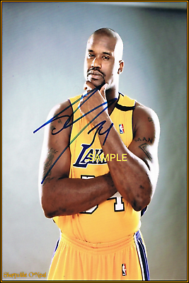 Autographed Lakers RP Basketball Signed Shaquille O/'Neal 8x10 Photo REPRINT