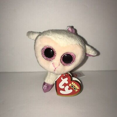 "TY Beanie Babies Boo/'s Lilli Lamb Key Clip 3/"" Stuffed Collectible Plush Toy NEW"