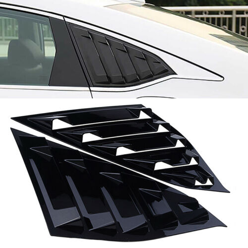 Gloss Black For Honda Accord 2018 1//4 Quarter Panel Window Side Louvers Vent
