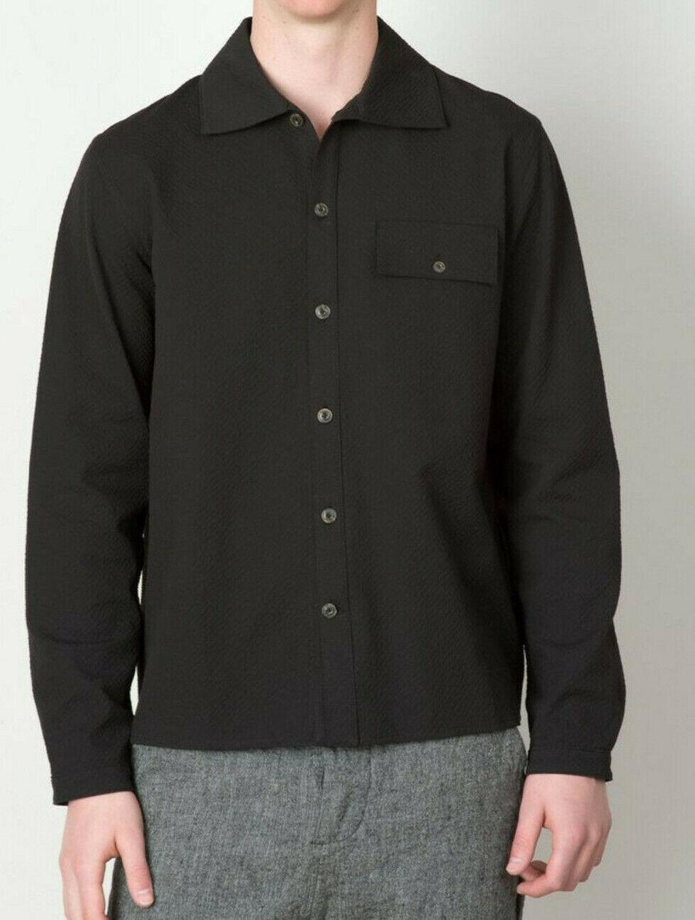 """Surchemise A Kind Of Guise """"Branco Shirt"""" seersucker noir petit"""