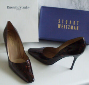 BROMLEY-WEITZMAN-Tortoise-Pointed-Toe-Pump-Heels-Court-Shoes-Size-EU-39-UK-6