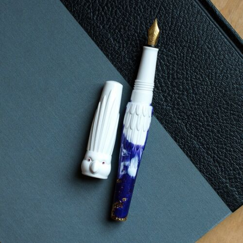 BENU Parrot Collection Purple /& White Fountain Pen