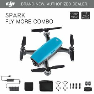 DJI Spark Fly More Combo - Sky Blue Quadcopter Drone...