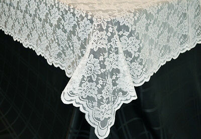 White Lace Tablecloth 54 x 108 New in package