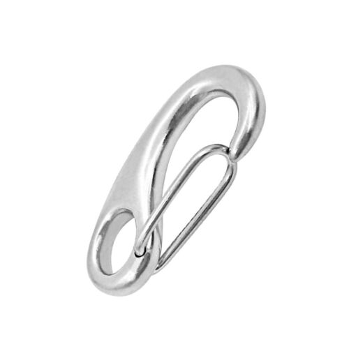 10Pcs Marine 316 Stainless Steel Spring Snap Hooks Boat Anchor Rigging Clip