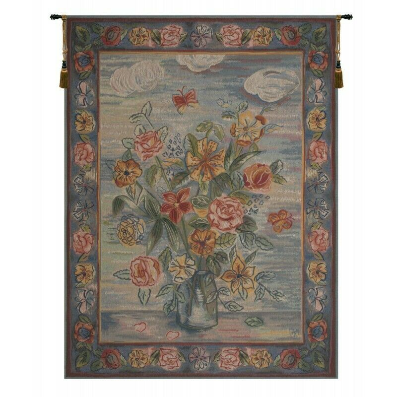 Modern Style Bouquet French Tapestry Wall Hanging H 58  x W 44