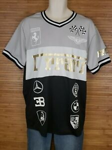 Lavish-Society-Graphic-Ferrari-Short-Sleeve-Shirt-Mens-Size-XL-EUC