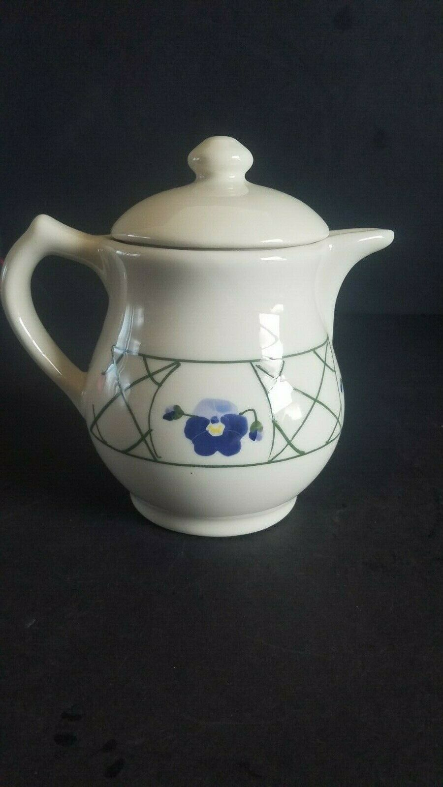 Vintage Hartstone Handbemalt Steingut Teekanne Einwandfreie