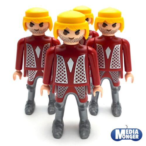 Ritter blondStoppelbartOberkörper rotsilber playmobil® 4 x Grundfigur