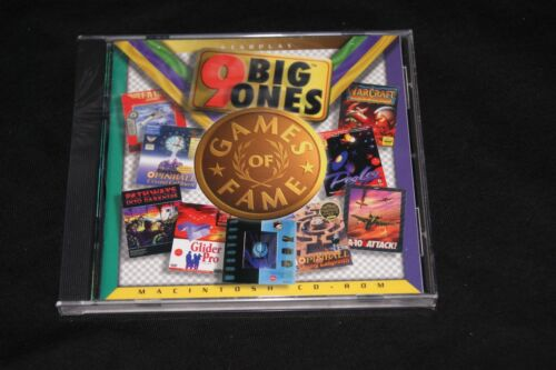9 Big One Vintage Games Software for classic Mac CD Brand New all licensed