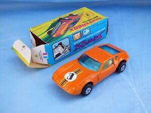 Vintage-Lesney-Matchbox-Superfast-Monteverdi-Naranja-Hai-1972-no-3-Coche-de-Juguete-en-Caja