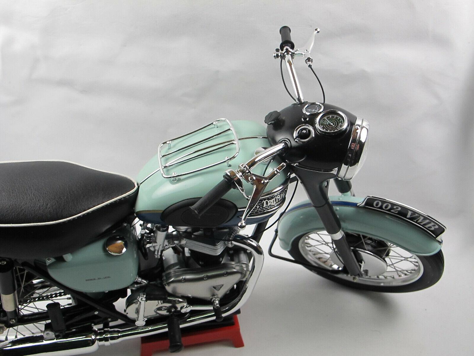 VMB 1959 TRIUMPH BONNEVILLE t120r t120r t120r Bleu Moto Modèle Résine 1 6 8272b6