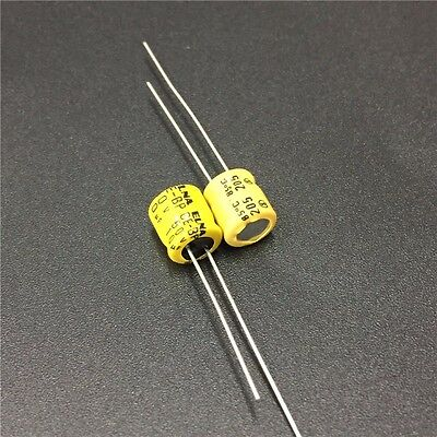 10pcs 10uF 50V ELNA CE-BP 6x7mm 50V10uF Bipolar Audio Capacitor